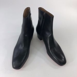 CHRISTIAN LOUBOUTIN mens black leather ankle boots